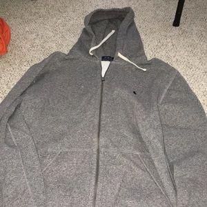 Dark grey polo Ralph Lauren zip up hoodie
